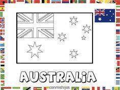Bandera De Australia Dibujos De Banderas Para Pintar Bandera De Australia Bandera De Paris Bandera Para Colorear