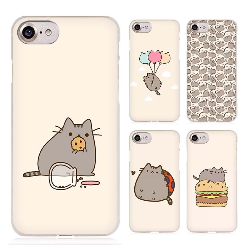 5de149b312e Pusheen the cute cat Clear Cell Phone Case Cover for Apple iPhone 4 4s 5 5s  SE 5c 6 6s 7 Plus
