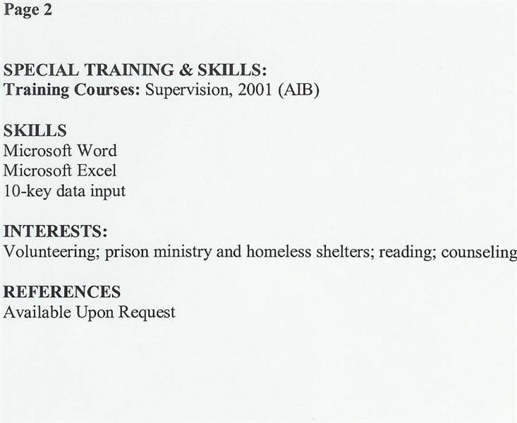 special training amp skills you can divide categories see resume ...