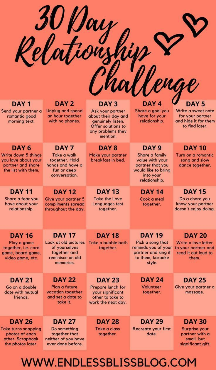 Take this 30 Days Relationship Challenge
