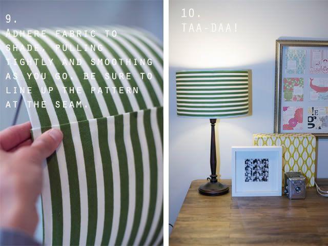 DIY Lamp Shade Recover :: just glue!!