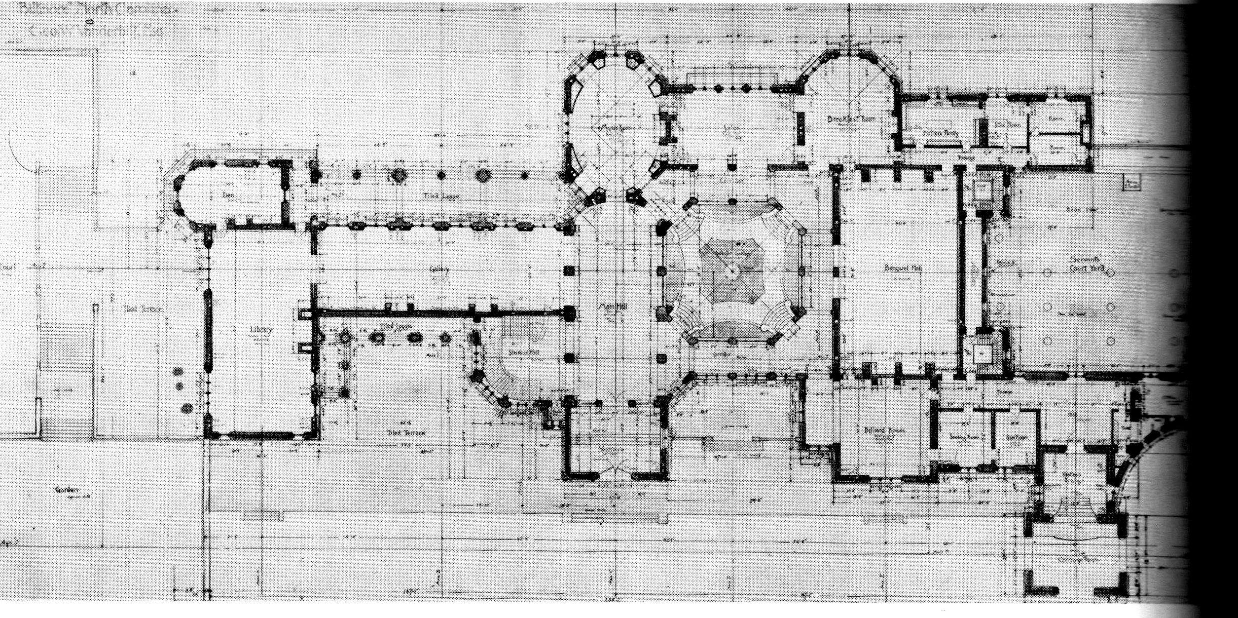 Floor plan scan an american castle the biltmore estate for Biltmore estate floor plan
