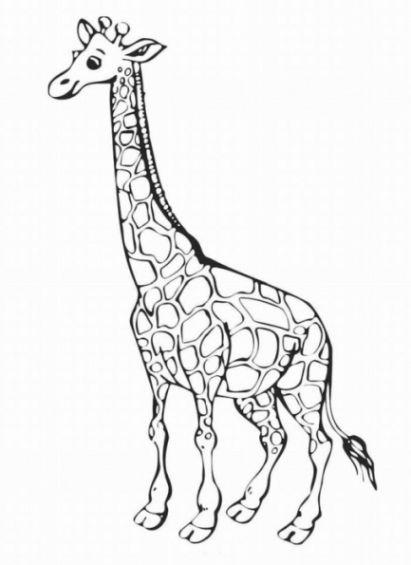 giraffe ausmalbild 10 | ausmalen, ausmalbilder tiere