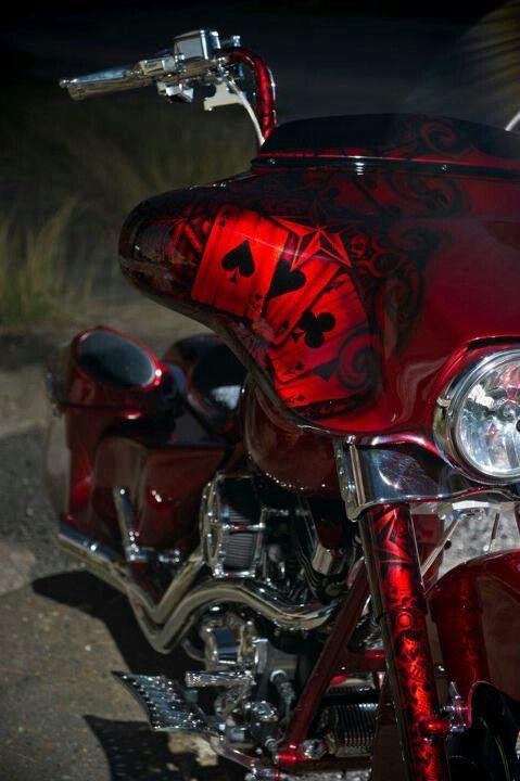 Unique paint job. Diggin it. | bikes | Custom paint motorcycle, Harley bikes, Motorcycle