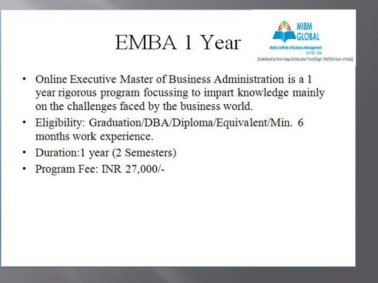 Executive Mba In 2019 Mibmglobal Online Mba Mba Masters In Business Administration