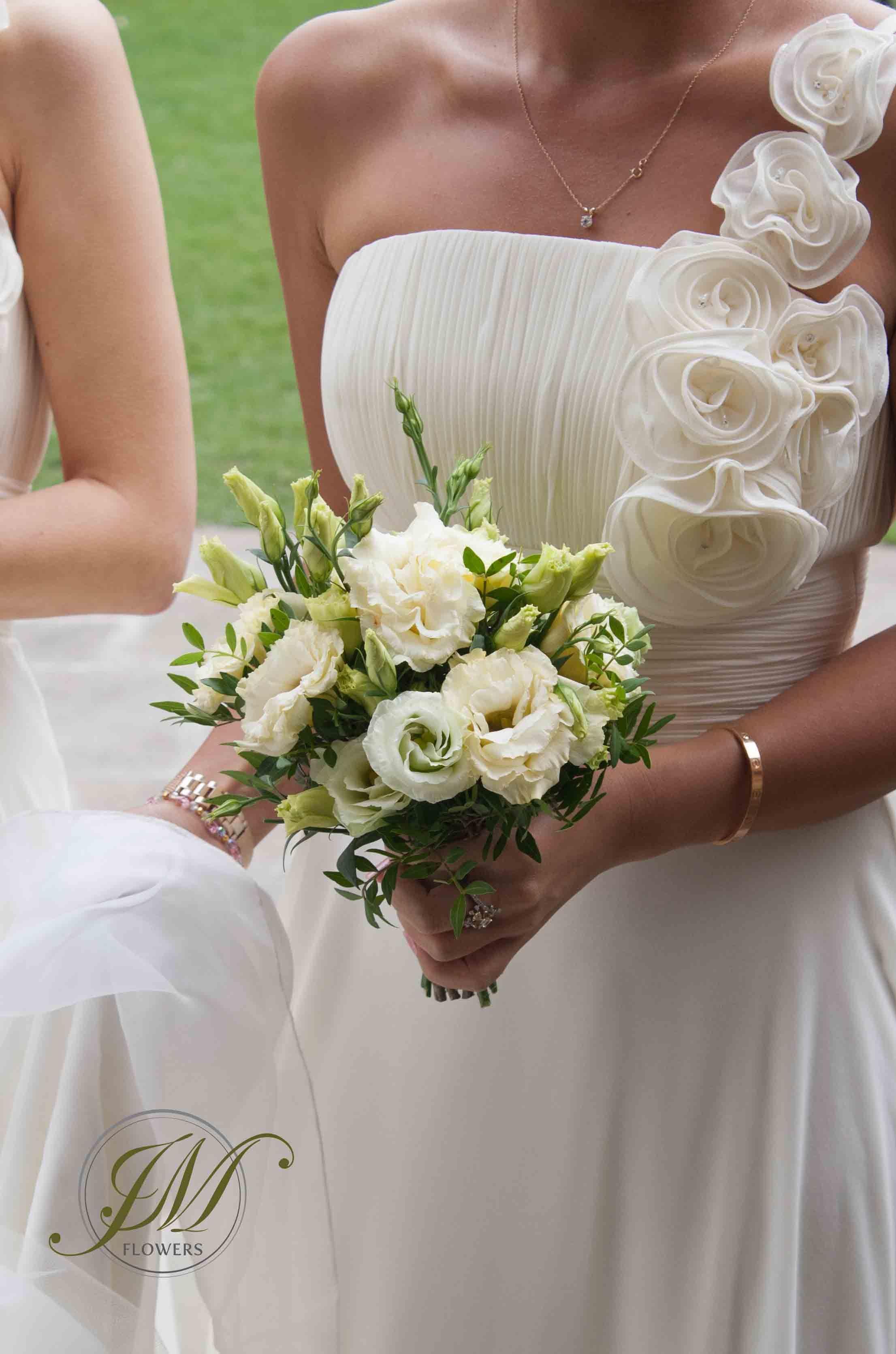 Cream lisianthus and white ammi bridesmaid bouquet levandulov cream lisianthus and white ammi bridesmaid bouquet izmirmasajfo