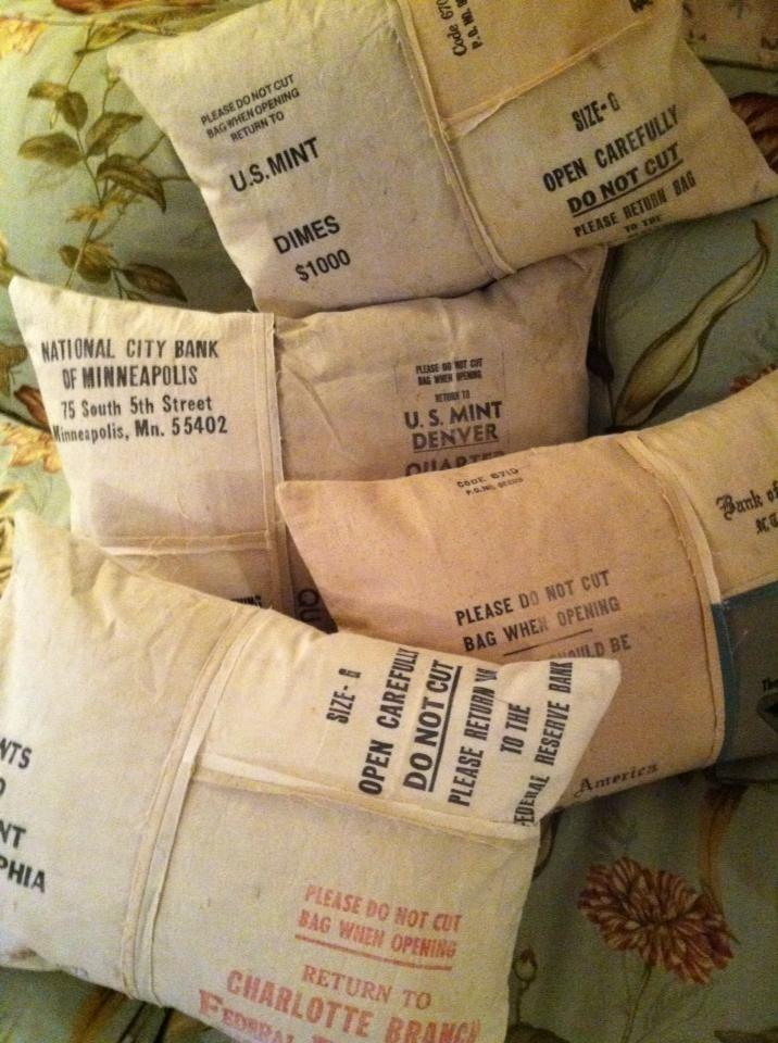 Bank Bag Pillows Special Order Bank Bag Fabric Crafts Diy Pillows