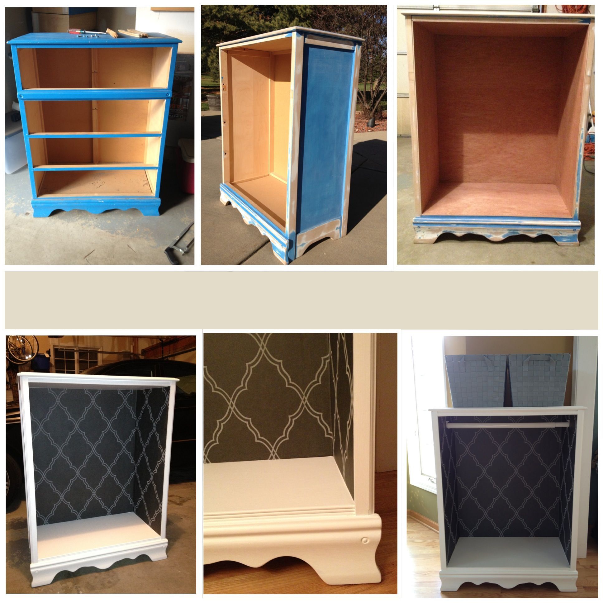 Diy Dress Up Storage Refinished Dresser Turned Into A Wardrobe Closet For Baby