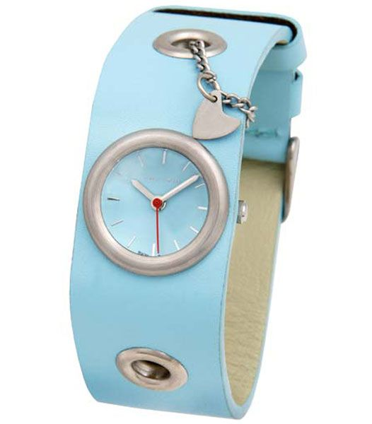 Women's Stella Baby Blue Dial Leather Strap Watch
