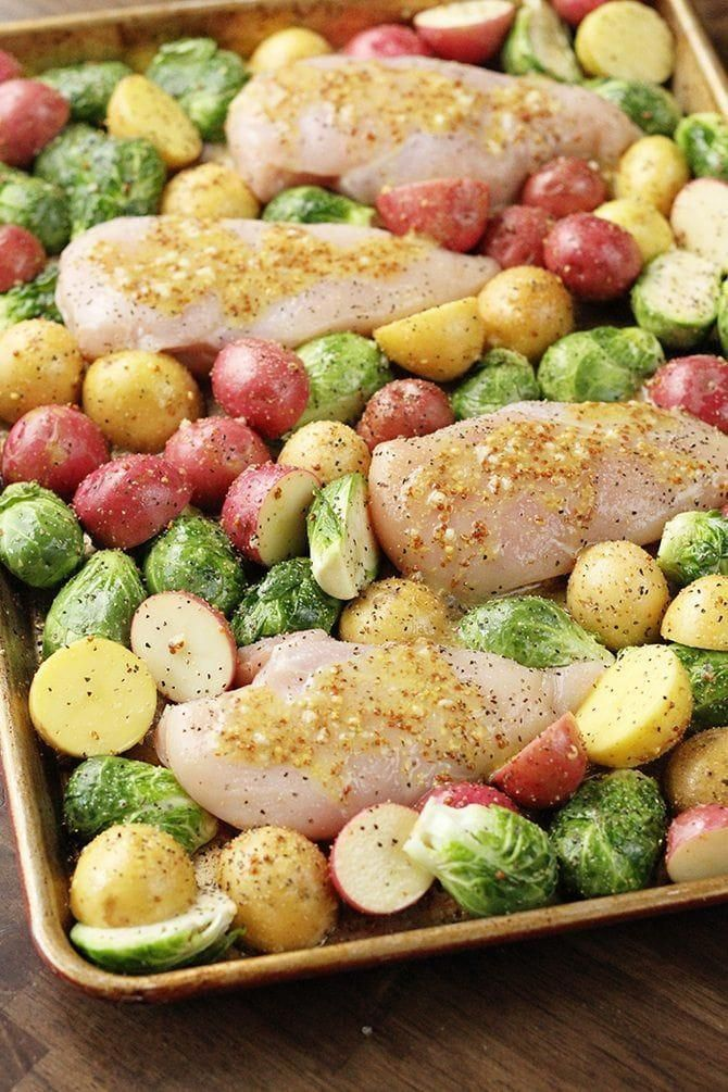This Sheet Pan Lemon Chicken is an amazing one-pan meal ...