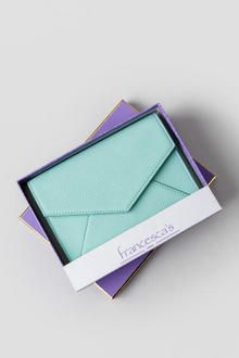 Sarah Boxed Envelope Wallet in Mint