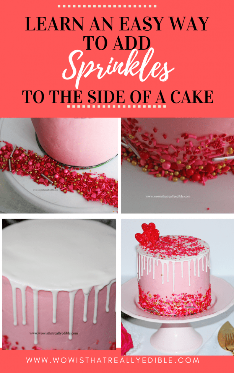How to add Sprinkles to a cake - Wow! Is that really edible? Custom Cakes+ Cake Decorating Tutorials