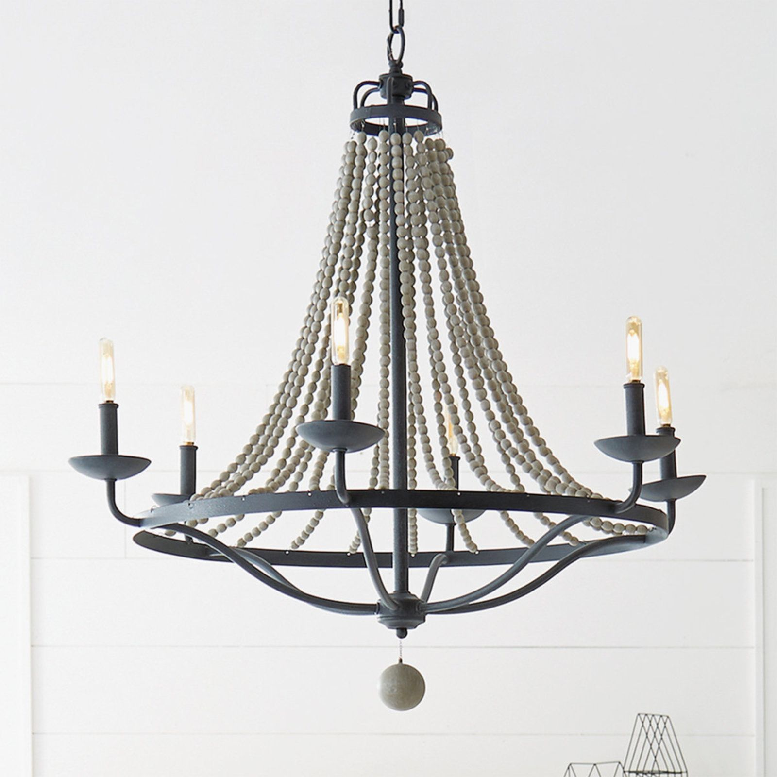 French Country Driftwood Chandelier 6 Light