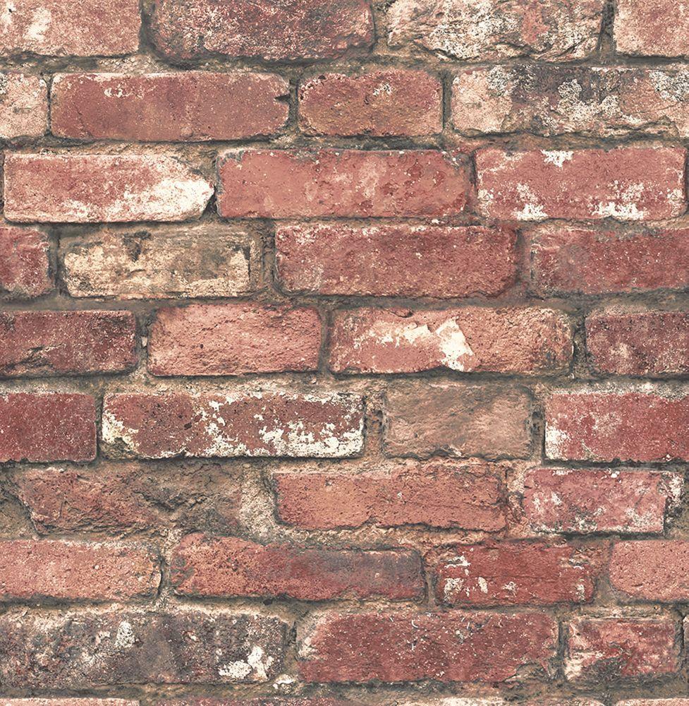 Loft Red Brick Wallpaper In 2020 Red Brick Wallpaper Faux Brick Brick Wallpaper