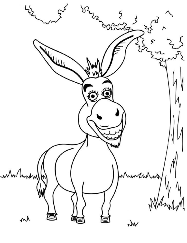 Free Printable Donkey Coloring Pages For Kids Coloring Pages Animal Coloring Pages Spider Coloring Page