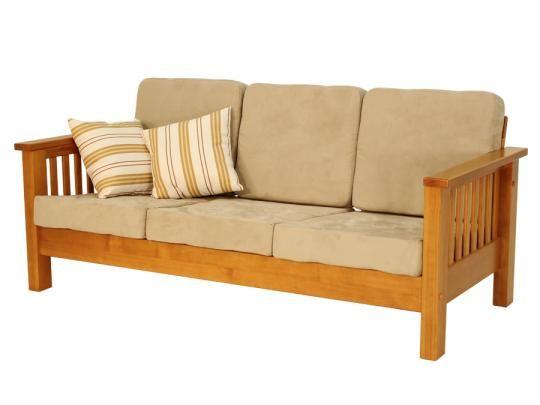 Sofa 3 Lugares Universo Com Almofadas Cerezo Almofadas Areia