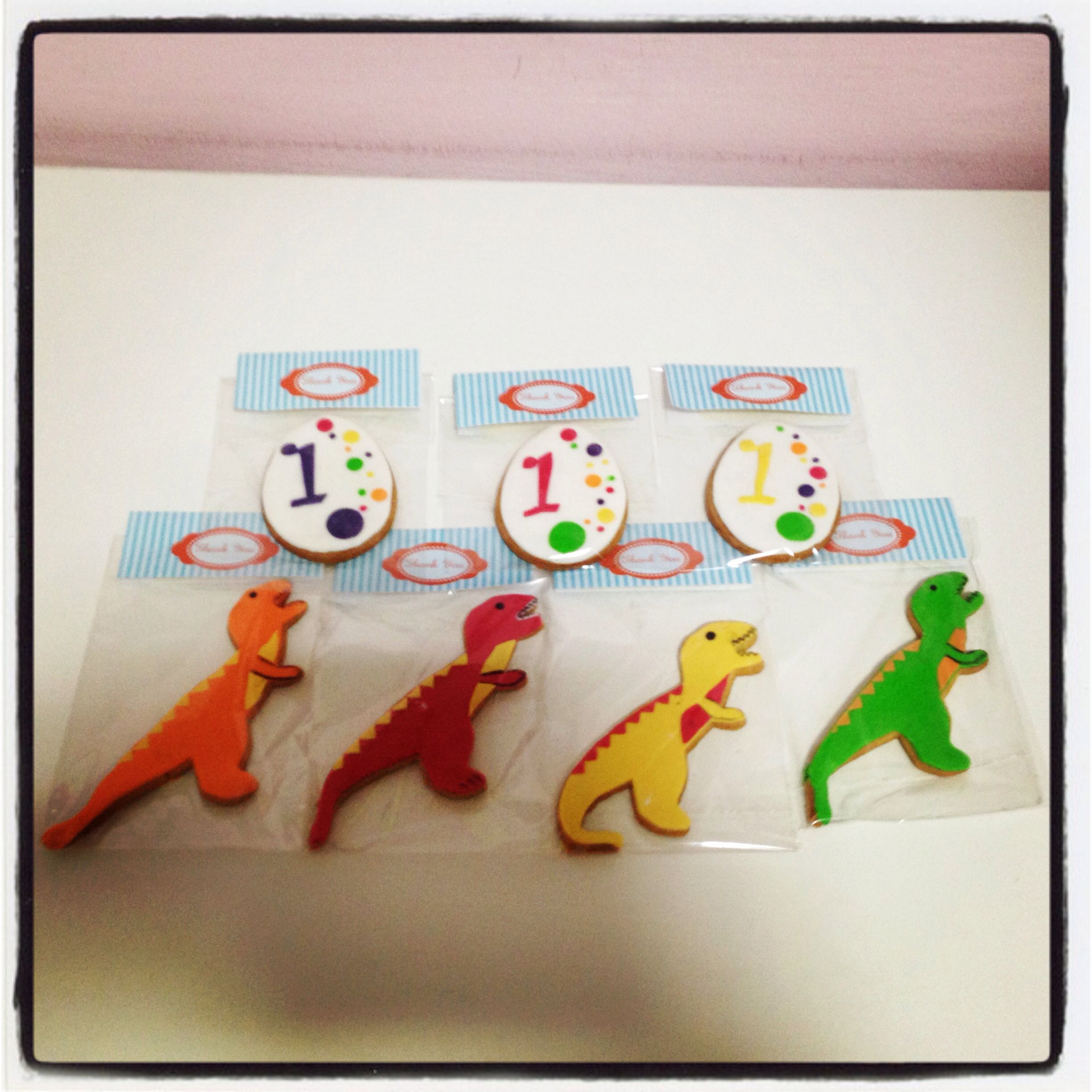 Dinosaur theme cookies done by zafiels cakes