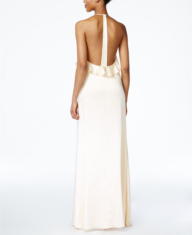 Macy's party dresses weddings  Jill Jill Stuart Ruffled Halter Gown  Dresses  Women  Macyus