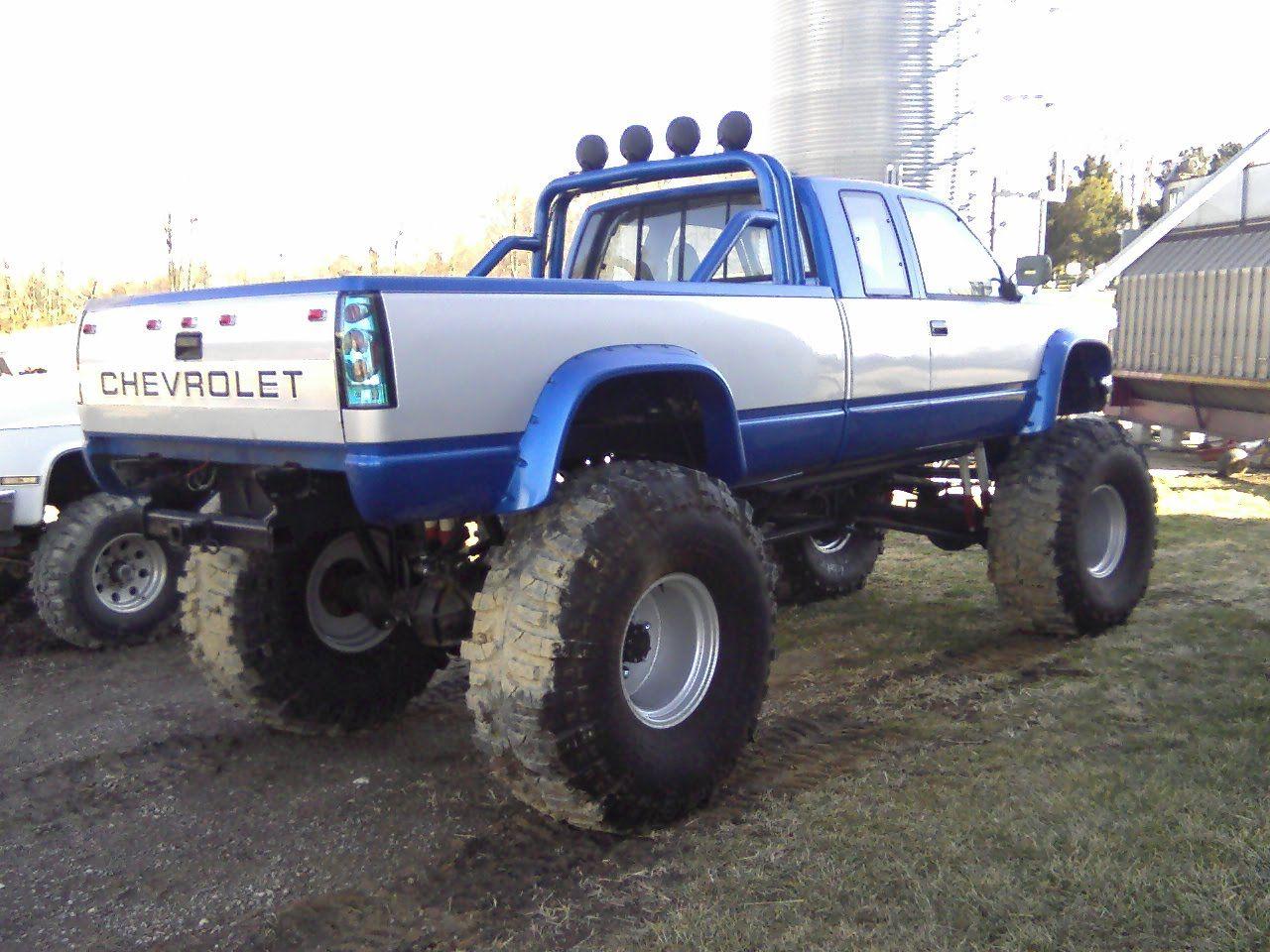 Lifted Silverado Mud Truck With Kc Lights Truck Yeaaah