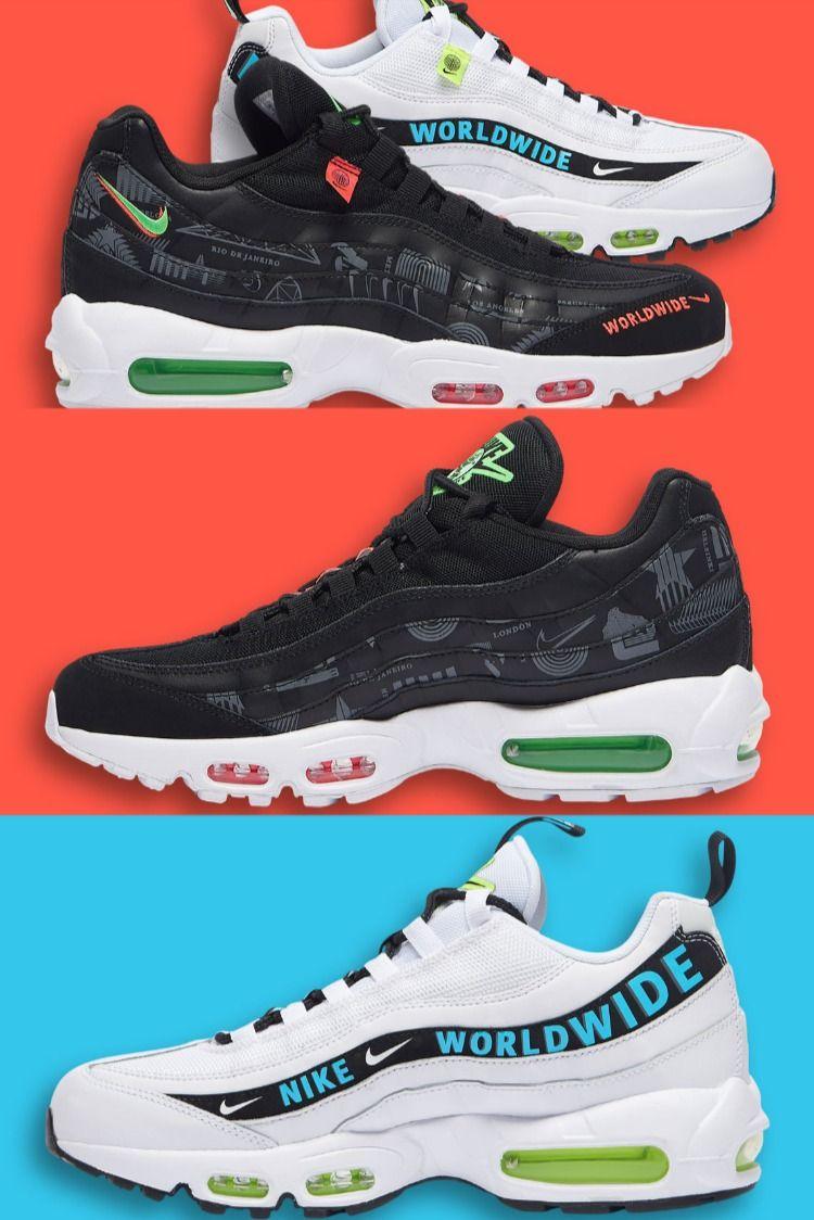 "Nike Air Max 95 ""Worldwide Pack"" CQ9743-001 (Black) / CT0248-100 ..."