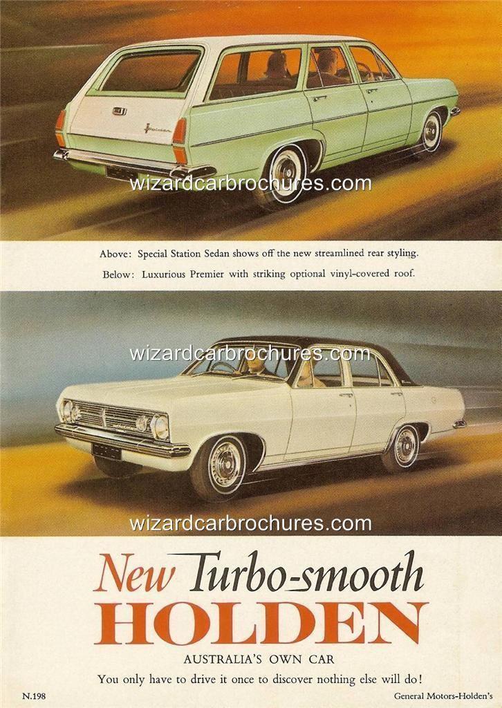 1966 Hr Holden Sedan Wagon A3 Poster Ad Sales Brochure