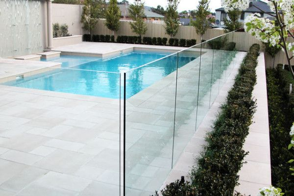 In Channel Frame Less Glass Pool Fencing South East Queensland Glass And Aluminium Glass Pool Fencing Pool Landscaping Glass Pool