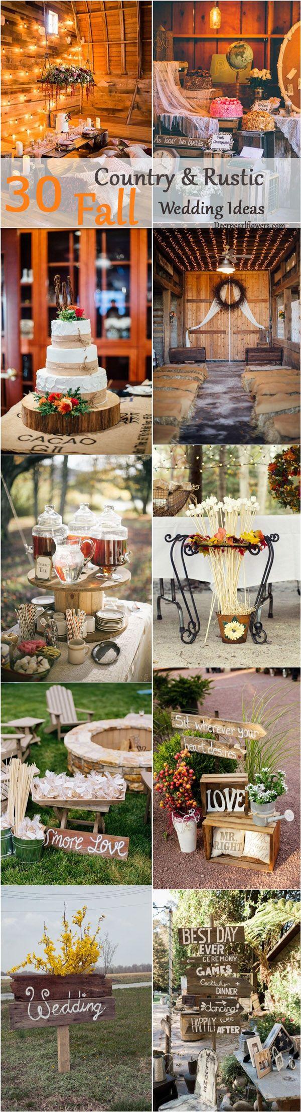 30 idee di matrimonio rustico in stile country autunno rustico-7975