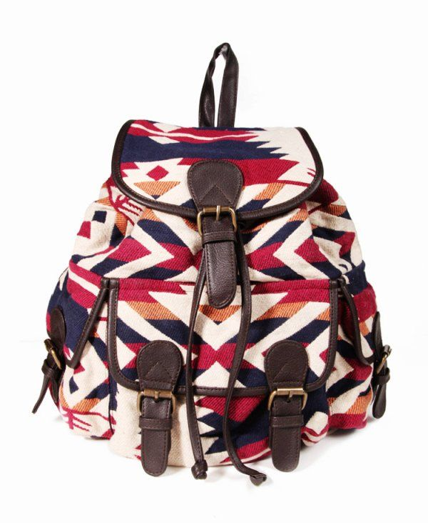 Vintage Tribal Backpacks for Girls - Bold Tribal Backpacks for ...