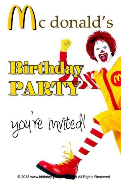 Relax With A Mcdonalds Birthday Party Party Birthday Decoration