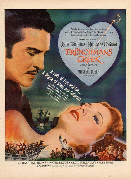 Frenchman/'s creek Basil Rathbone vintage movie poster print