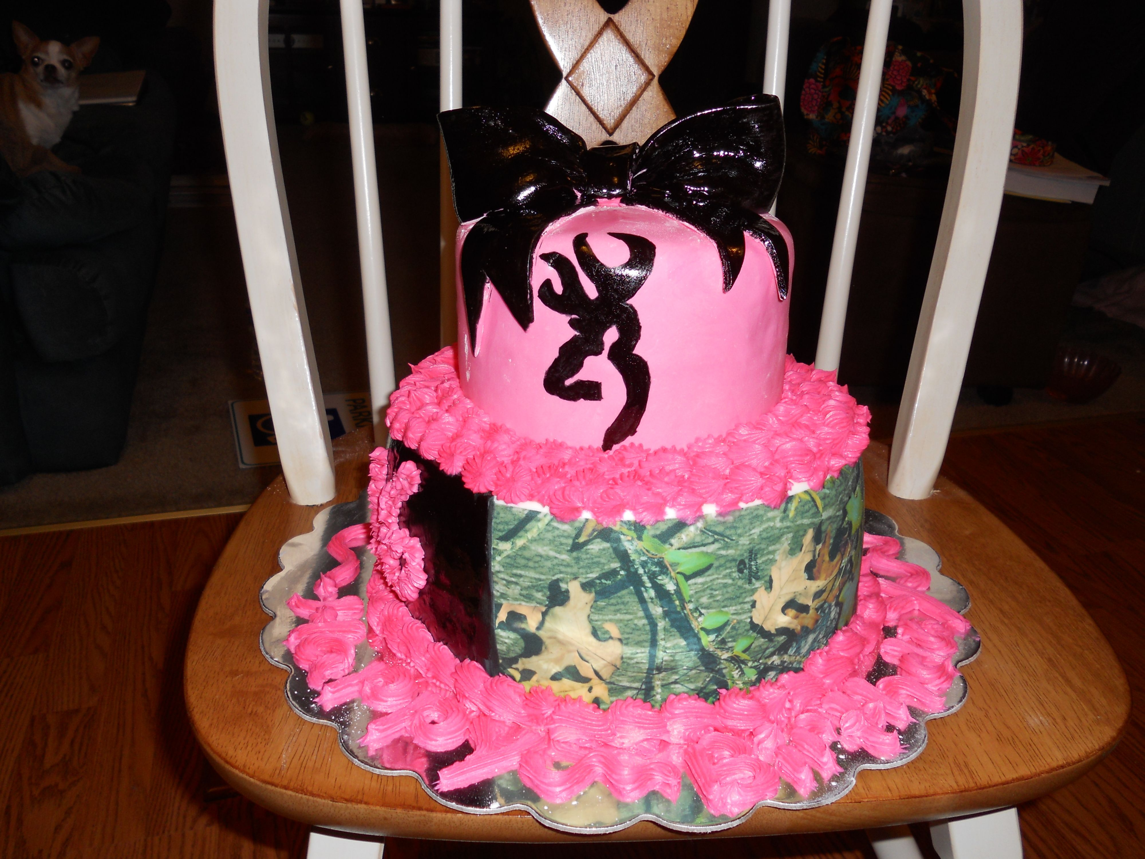 Camo browning buck cake this is a vanilla cake with buttercream camo browning buck cake this is a vanilla cake with buttercream icing marshmallow fondant biocorpaavc Images