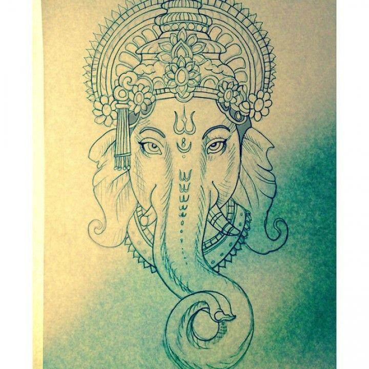 Ganesh Lotus Mandala Google Search Ganesh Tattoo Line Work Tattoo Indian Tattoo