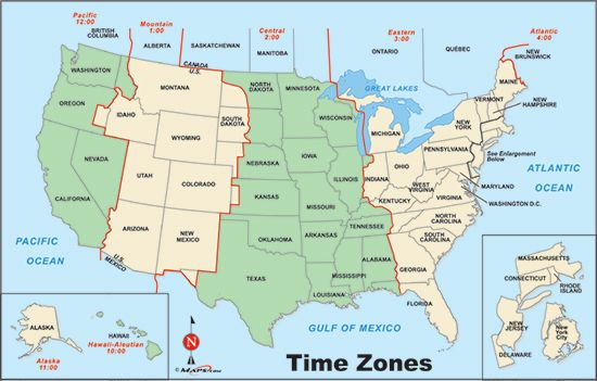 USA time zone map - ClipArt Best - ClipArt Best | RAA | Time ...