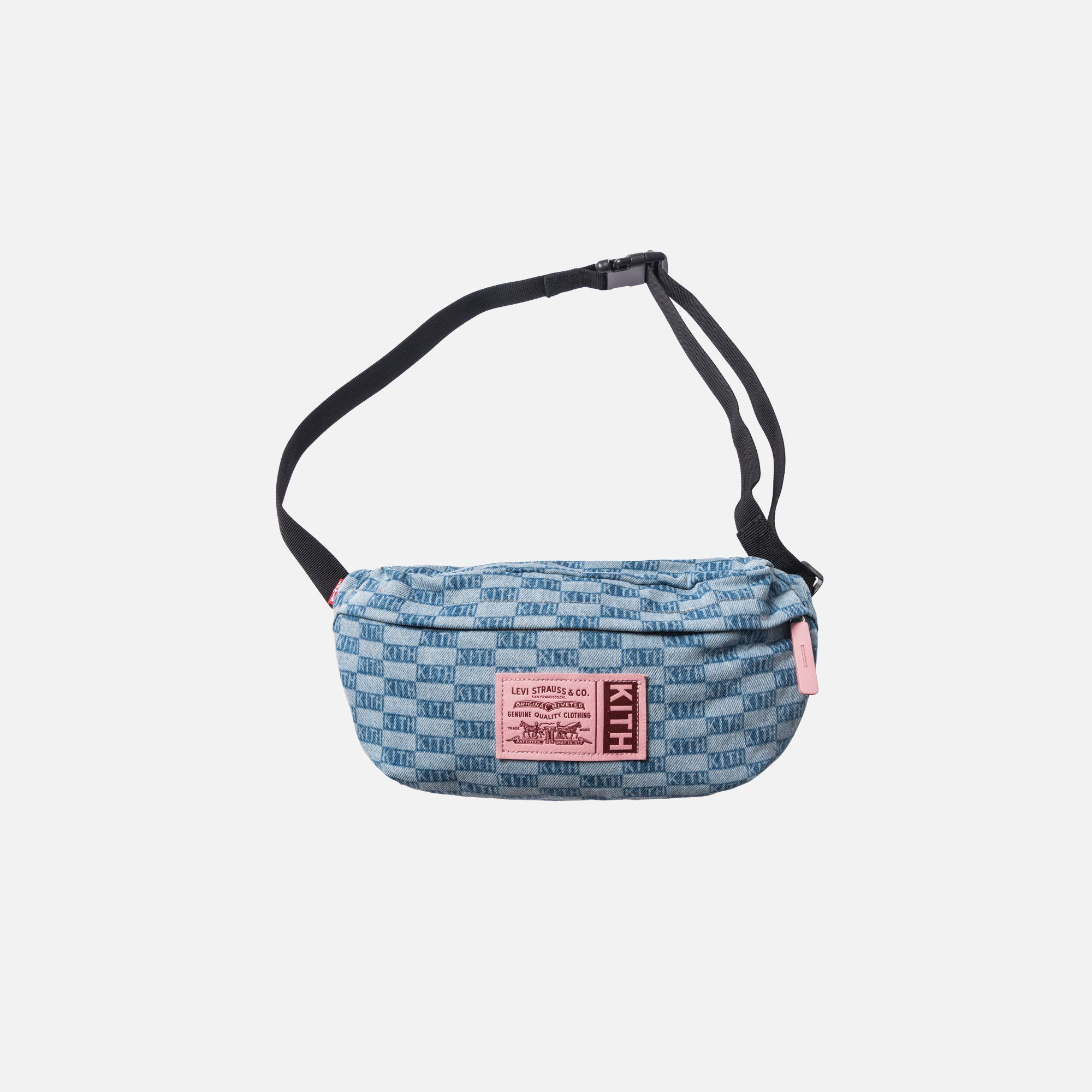 8b8bbee1 Kith x Levi's Salt Bleach AOP Crossbody Bag - Light Blue | bags in ...