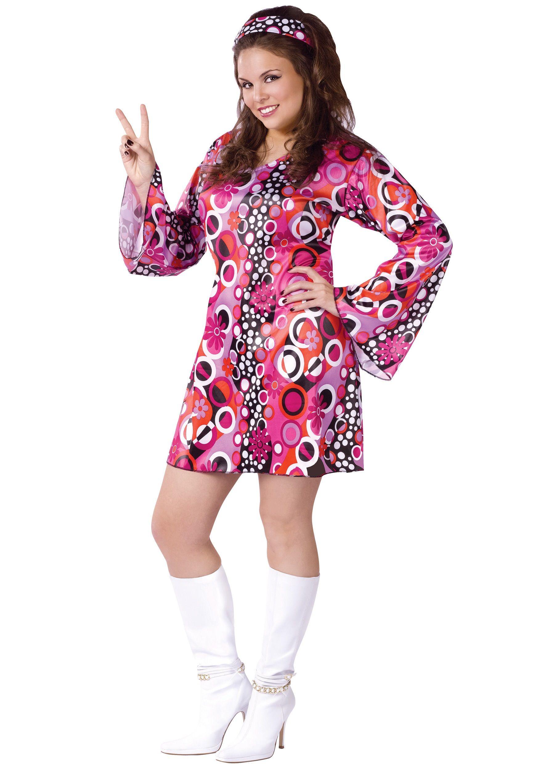 Plus Size Feelin Groovy Dress | Hippie costume and Discos