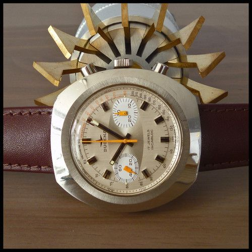 "70s DUGENA Swiss ""Okeah"" Vintage Chronograph 44mm Watch ..."