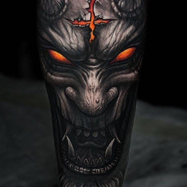 Demon tattoo by @stepannegur in Moscow Russia #stepannegur #moscow #russia #demontattoo #monstertattoo #tattoo #tattoos #tattoosnob
