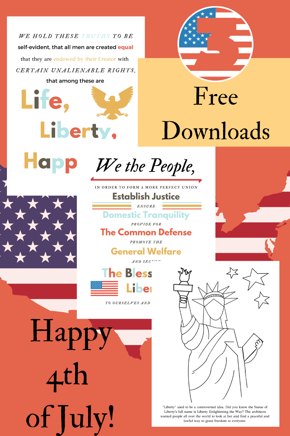 3 Free Fourth Of July Downloads Good Citizen Declaration Of Independence We The People [ 1500 x 1000 Pixel ]