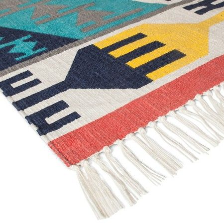 Tribal Hand Woven Printed Reversible Rug - Boho Boutique : Target