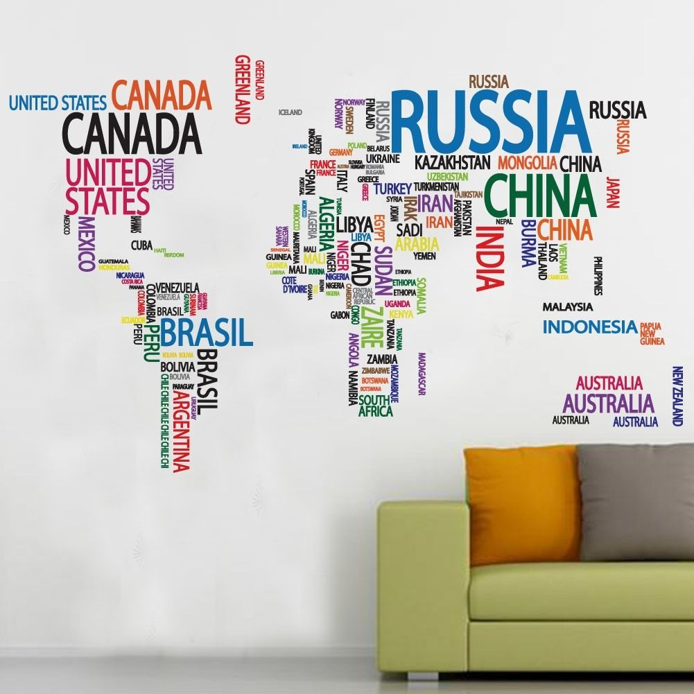 Vinilos decorativos mapamundi mapas mundo for Vinilo mapa del mundo