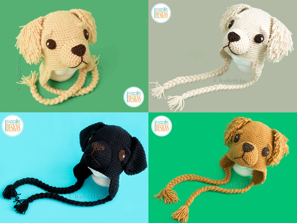PDF Crochet Pattern for making an adorable Golden Retriever or Labrador  Retriever Puppy Dog Hat by IraRott 66caaf5fd94