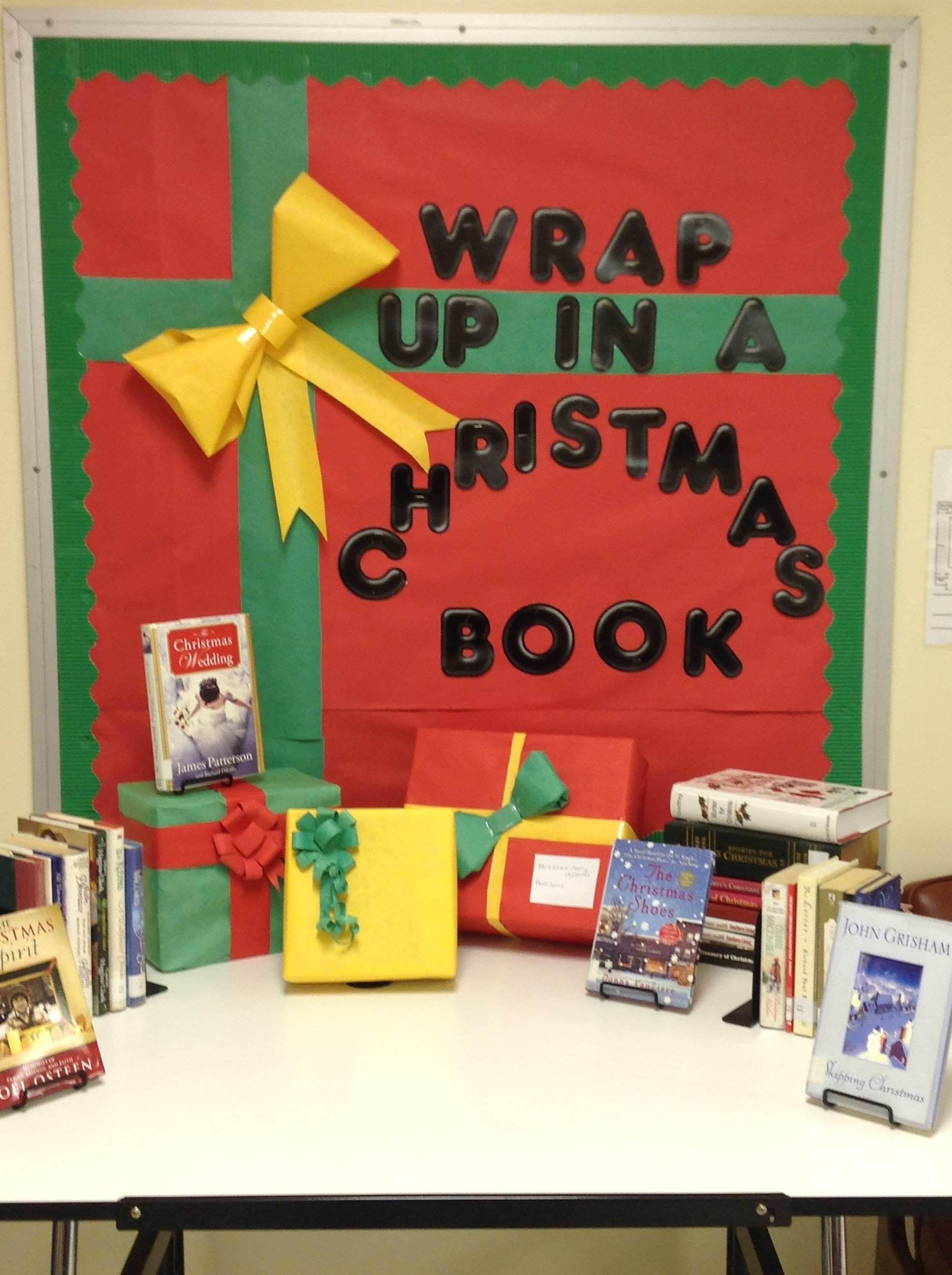 Christmas Ideas For School Libraries : Christmas bulletin board i am teacher