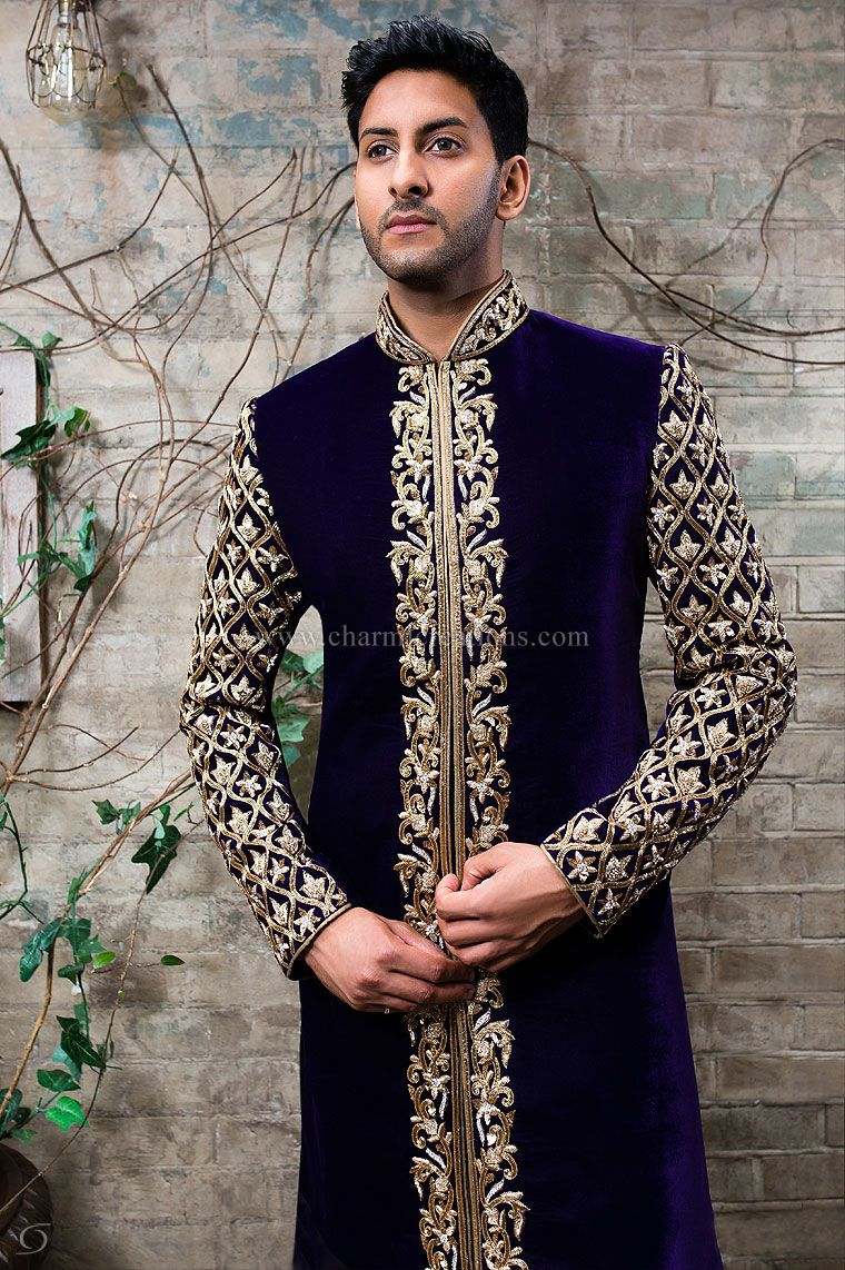 Mens sherwani suits wedding dresses for men asian groom suits