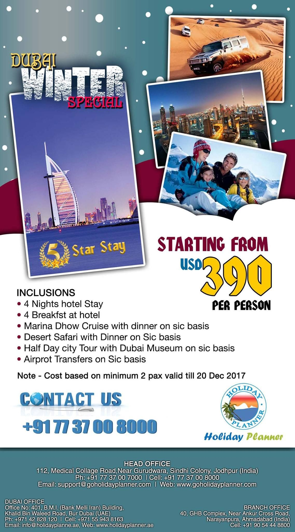 37 Tour Dubai Winter Special 5 Star Stay Holidayplanner India