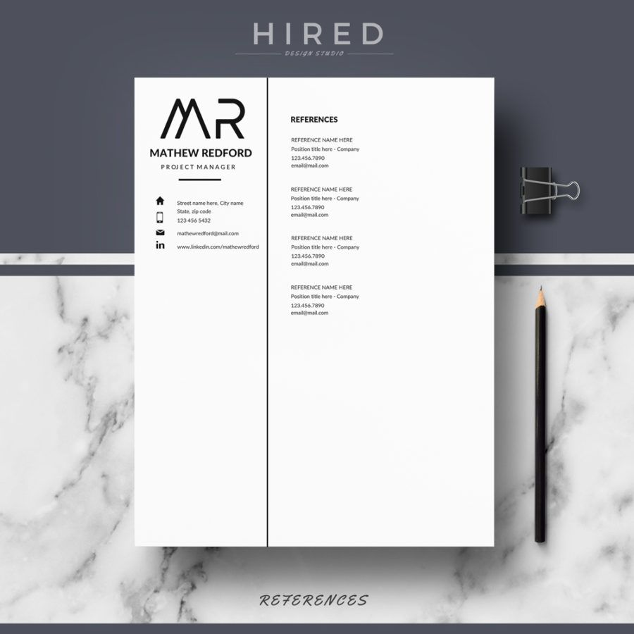 professional modern and minimalist resume template for ms word mathew - Minimalist Resume Template
