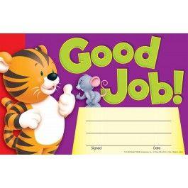 good job certificates