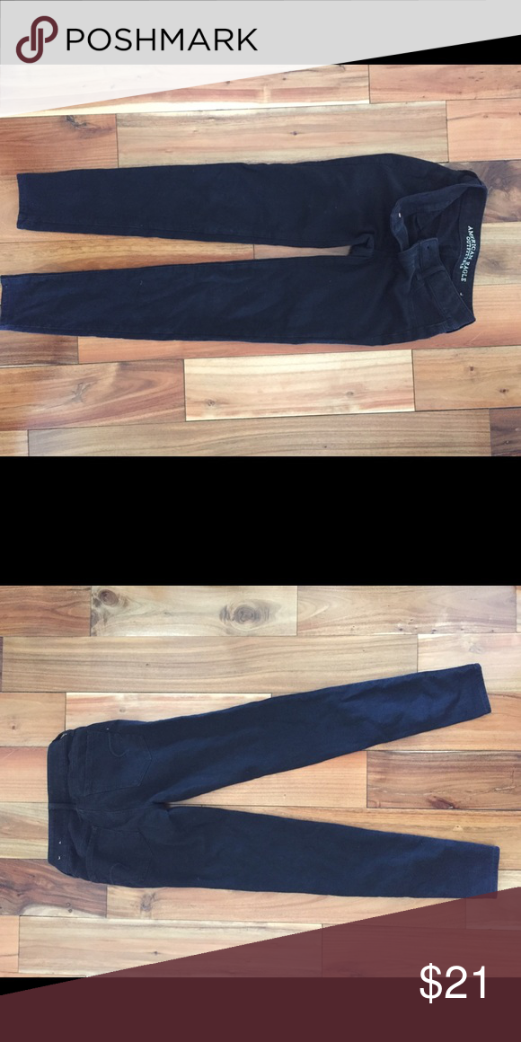 American Eagle black jegging American Eagle black jegging. Great condition washed in cold water American Eagle Outfitters Pants Skinny