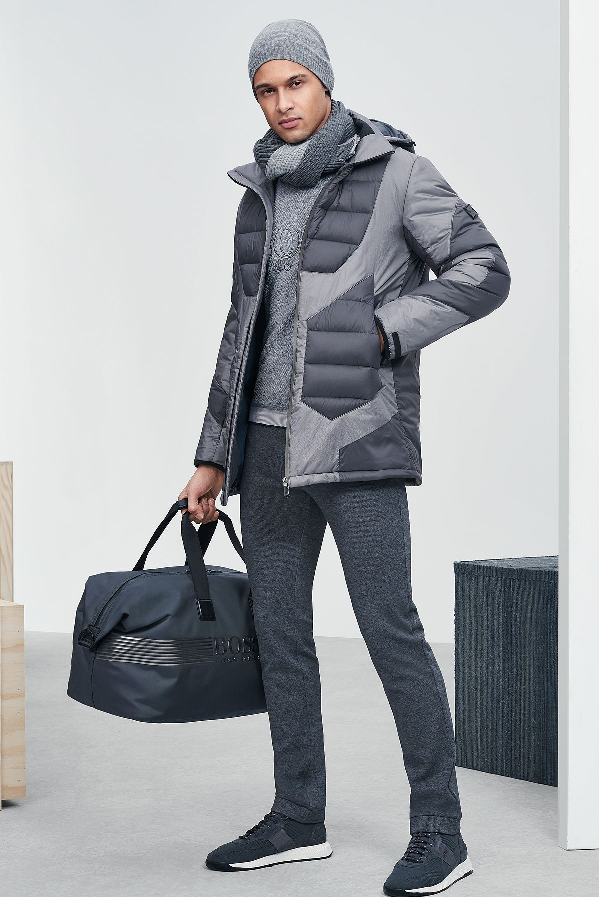 The Boss Menswear Fall Winter 2019 Collection Mens Winter Fashion Casual Wear For Men Mens Outfits [ 1796 x 1200 Pixel ]