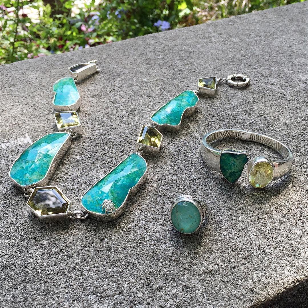 Metal meets nature. #StephenDweck #oneofakind #benchwork #jewelry