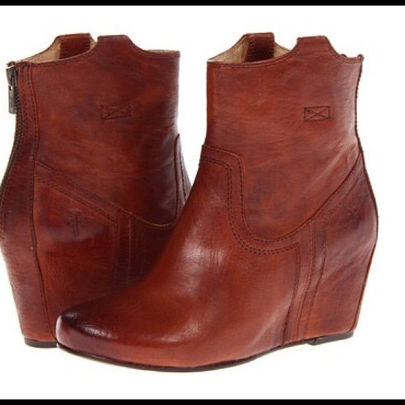 21ffb4db270 I just discovered this while shopping on Poshmark  Frye Carson Wedge Bootie…
